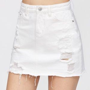 Dresses & Skirts - white denim skirt